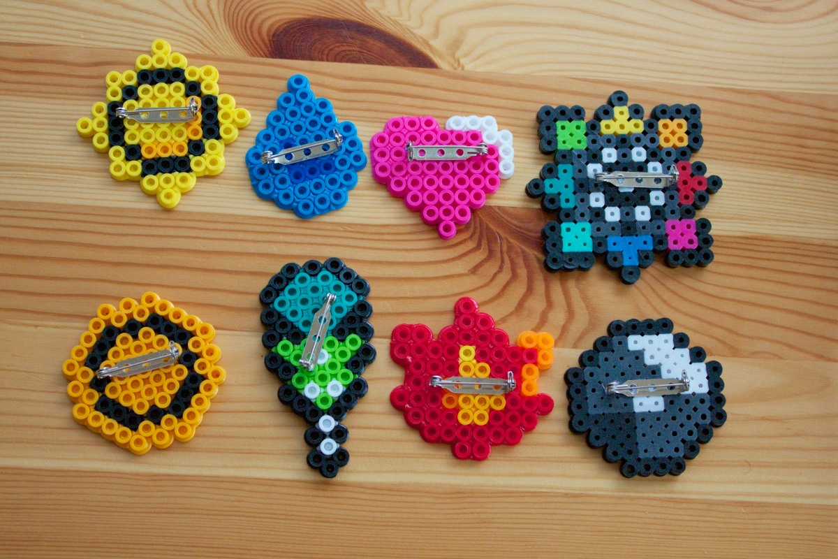 Day 128 - Perler Bead Pokebadges